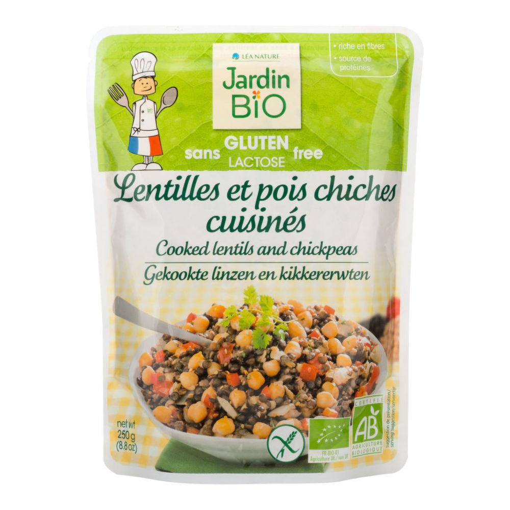 Lentil Chickpeas Ready Meal Gluten Free Organic 250 G Jardin Bio Countrylife Bio