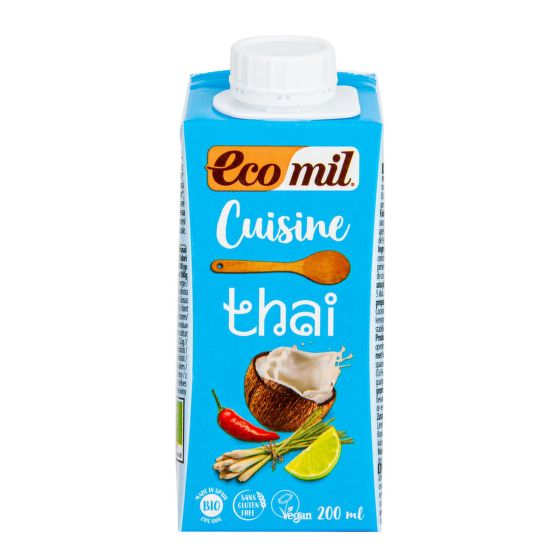 Coconut cuisine cream Thai organic 14 % fat 200 ml    ECOMIL