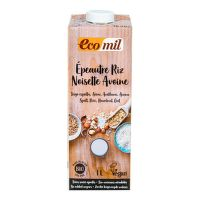 Spelt- rice drink with oat and hazelnut organic 1 l   ECOMIL