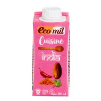 Almond cuisine cream India organic 9 % fat 200 ml   ECOMIL