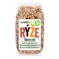 Tri-colour rice organic 500 g   COUNTRY LIFE
